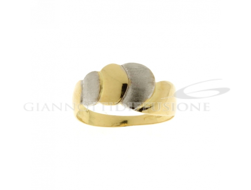 Polished and satin finished ring