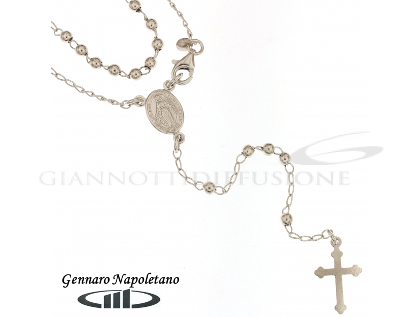 Rosary Silver necklace, 55cm