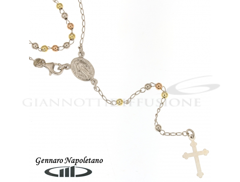 Rosary Silver necklace, 60cm