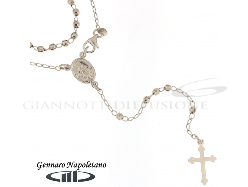 Rosary Silver necklace, 45cm