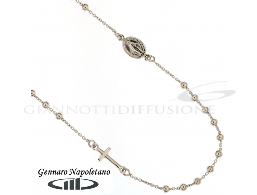 Rosary Silver necklace, 45-50cm